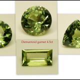 Andradite variety demantoid (Garnet Group)<br />Erongo Region, Namibia<br />4.5 ct<br /> (Author: Pierre Joubert)