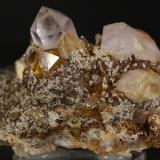 Cuarzo<br />Minas de hierro de Alonsotegi, Ganekogorta, Alonsotegi (Alonsótegui), Comarca Gran Bilbao, Bizkaia / Vizcaya, Euskadi, España<br />8x6 cm<br /> (Autor: minero1968)