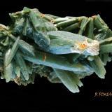 cuarzo ( variedad cuarzo prasio )<br />Isla de Serifos, Islas Cícladas, Prefectura de las Cícladas, Egeo meridional, Grecia<br />10 x 7 cm<br /> (Autor: Ricardo Fimia)