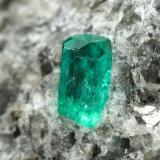 Beryl (variety emerald), Calcite, Pyrite<br />Chivor mining district, Municipio Chivor, Eastern Emerald Belt, Boyacá Department, Colombia<br />45x36x29mm, xl=4mm<br /> (Author: Fiebre Verde)