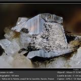 Anatase and Rutile<br />Vallon de la Valette, La Lauzière Massif, Saint-Jean-de-Maurienne, Savoie, Auvergne-Rhône-Alpes, France<br />fov 4 mm<br /> (Author: ploum)