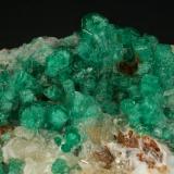 Beryl (variety emerald), Calcite<br />Peñas Blancas Mine, Municipio San Pablo de Borbur, Western Emerald Belt, Boyacá Department, Colombia<br />70x70x45mm<br /> (Author: Fiebre Verde)