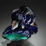 Azurite<br />Copper Queen Mine, Queen Hill, Bisbee, Warren District, Mule Mountains, Cochise County, Arizona, USA<br />1.6 x 2.1 cm<br /> (Author: crosstimber)