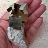 Pyrite<br />Ampliación a Victoria Mine, Navajún, Comarca Cervera, La Rioja, Spain<br />10x5x4 cm.<br /> (Author: supertxango)