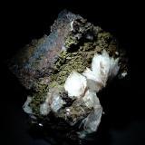 Barita y Siderita (variedad sideroplesita)<br />Corta San José, El Pilar de Jaravía, Pulpí, Comarca Levante Almeriense, Almería, Andalucía, España<br />70x70 mm.<br /> (Autor: Jesus Franquesa Baucells)