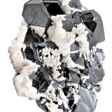 Sphalerite, Dolomite, Calcite<br />Stan Trg (Stari Trg) Mine, Trep&#269;a Complex, Trep&#269;a Valley, Kosovska Mitrovica, Kosovska Mitrovica District, Kosovo<br />124 mm x 87 mm x 39 mm. Major crystal size: 29 mm on edge<br /> (Author: Carles Millan)