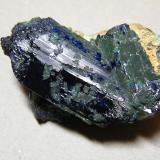 Azurite<br />Tsumeb Mine, Tsumeb, Otjikoto Region, Namibia<br />35mmx50mmx25mm<br /> (Author: Heimo Hellwig)