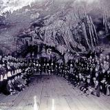 _The Masonic Grand Lodge hold an annual meeting in a cave at the 200 level of the Czar Mine, Bisbee, AZ. 1897. (Author: vic rzonca)