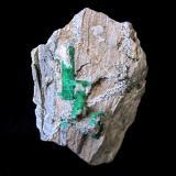 Beryl (variety emerald)<br />Chivor mining district, Municipio Chivor, Eastern Emerald Belt, Boyacá Department, Colombia<br />Specimen size 7 cm<br /> (Author: Tobi)