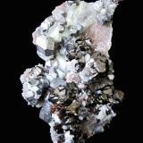Galena, Sphalerite, Quartz<br />Rucheng Mine, Caojia, Nuanshui, Rucheng, Chenzhou Prefecture, Hunan Province, China<br />Specimen height 10 cm<br /> (Author: Tobi)