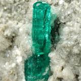 Beryl (variety emerald), Calcite, Pyrite<br />Chivor mining district, Municipio Chivor, Eastern Emerald Belt, Boyacá Department, Colombia<br />40x49x22mm, xl=16mm<br /> (Author: Fiebre Verde)