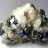 Galena, Quartz<br />Madan mining area, Rhodope Mountains, Smolyan Oblast, Bulgaria<br />Specimen size 12 cm<br /> (Author: Tobi)