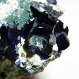 Azurite<br />Tsumeb Mine, Tsumeb, Otjikoto Region, Namibia<br />70mmx50mmx50mm<br /> (Author: Heimo Hellwig)
