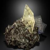 Calcite, Sphalerite and Fluorite<br />Elmwood Mine, Carthage, Central Tennessee Ba-F-Pb-Zn District, Smith County, Tennessee, USA<br />87 X 68<br /> (Author: Manuel Mesa)