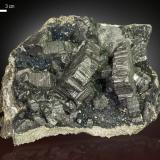 Bournonite<br />Víboras Mine, Machacamarca, Machacamarca District, Cornelio Saavedra Province, Potosí Department, Bolivia<br />135 X 80 mm<br /> (Author: Manuel Mesa)