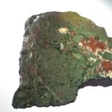 Copper, Epidote, Calcite<br />Lake Superior Copper District, Keweenaw County, Michigan, USA<br />140 mm x 90 mm x 25 mm<br /> (Author: Robert Seitz)