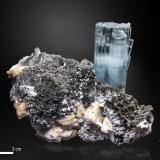 Beryl (variety aquamarine)<br />Shigar Valley, Shigar District, Gilgit-Baltistan (Northern Areas), Pakistan<br />94 X 56 mm<br /> (Author: Manuel Mesa)