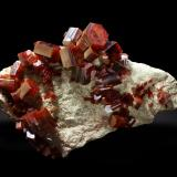 Vanadinite<br />ACF Mine, Mibladen mining district, Mibladen, Midelt, Midelt Province, Drâa-Tafilalet Region, Morocco<br />8,8 cm.<br /> (Author: Enrique Llorens)