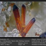 Aeschynite-(Y)<br />Lohning Quarry (Lohninger Quarry), Hüttwinkl Valley, Rauris Valley, Hohe Tauern, Salzburg, Austria<br />fov 0.70 mm<br /> (Author: ploum)
