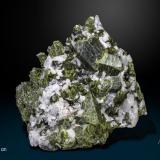 Epidote<br />Aguablanca Mine, Monesterio, Comarca Tentudía, Badajoz, Extremadura, Spain<br />120 x 95 mm<br /> (Author: Manuel Mesa)