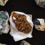 Wulfenite, Vanadinite (variety endlichite)Mina Erupción (Mina Ahumada), Sierra de Los Lamentos, Municipio Ahumada, Chihuahua, México155 mm x 110 mm x 65 mm (Author: Robert Seitz)