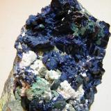 Azurite<br />Tsumeb Mine, Tsumeb, Otjikoto Region, Namibia<br />60mm x 100mm x70mm<br /> (Author: Heimo Hellwig)
