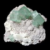 Fluorapophyllite-(K)<br />Jalgaon District, Maharashtra, India<br />Specimen size 8,5 cm, largest crystal 2 cm<br /> (Author: Tobi)