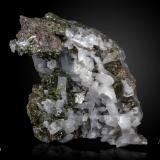 Epidote, Titanite, Quartz and Andradite<br />Aguablanca Mine, Monesterio, Comarca Tentudía, Badajoz, Extremadura, Spain<br />150 x 98 mm<br /> (Author: Manuel Mesa)