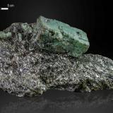 Beryl (variety emerald)<br />Emerald Deposit, A Franqueira, A Cañiza, Comarca Paradanta, Pontevedra, Galicia, Spain<br />220 x 83 mm<br /> (Author: Manuel Mesa)