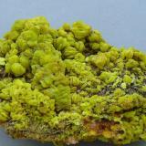 Autunite<br />Margnac Mine, Compreignac, Haute-Vienne, Nouvelle-Aquitaine, France<br />10 x 7 cm<br /> (Author: Benj)