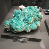 Dioptase, Calcite<br />Tsumeb Mine, Tsumeb, Otjikoto Region, Namibia<br /><br /> (Author: Tobi)