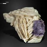 Fluorite on Baryte<br />La Cabaña, Berbes mining area, Valdelmar, Berbes, Ribadesella, Comarca Oriente, Asturias, Principality of Asturias, Spain<br />138 X 88 mm<br /> (Author: Manuel Mesa)