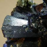 Azurite<br />Tsumeb Mine, Tsumeb, Otjikoto Region, Namibia<br />90mm x 80mm x 55mm<br /> (Author: Heimo Hellwig)