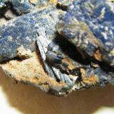 Azurite<br />Tsumeb Mine, Tsumeb, Otjikoto Region, Namibia<br />100mm x 75mm x 40mm<br /> (Author: Heimo Hellwig)