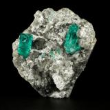 Beryl (variety emerald), Albite (variety cleavelandite), Dolomite, Pyrite<br />Chivor mining district, El Oriente Mine, Municipio Chivor, Eastern Emerald Belt, Boyacá Department, Colombia<br />52x54x30mm, xls=18 &amp; 16mm<br /> (Author: Fiebre Verde)