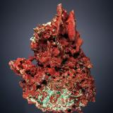 Copper with Cuprite<br />New Cornelia Mine, Ajo, Little Ajo Mountains, Ajo District, Pima County, Arizona, USA<br />8.0cm x 5.7cm<br /> (Author: rweaver)