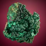 Malachite<br />New Cornelia Mine, Ajo, Little Ajo Mountains, Ajo District, Pima County, Arizona, USA<br />7.0cm x 6.2cm<br /> (Author: rweaver)