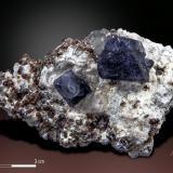 Fluorite and Spessartine<br />Wushan Spessartine prospects, Tongbei, Yunxiao, Zhangzhou Prefecture, Fujian Province, China<br />79X 50 mm<br /> (Author: Manuel Mesa)