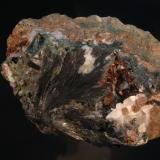 Ferro-pargasita<br />Corta Mercedes, Minas de Cala, Cala, Comarca Sierra de Huelva, Huelva, Andalucía, España<br />10 x 9 cm<br /> (Autor: Ricardo Fimia)
