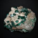 Dioptase<br />Mashamba West Mine, Kolwezi District, Lualaba, Katanga Copper Crescent, Katanga (Shaba), Congo DR (Zaire)<br />90mm x 60mm x 55mm<br /> (Author: Philippe Durand)