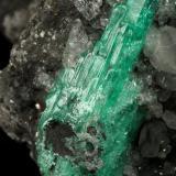Beryl (variety emerald), Calcite, Pyrite<br />Coscuez mining district, Municipio San Pablo de Borbur, Western Emerald Belt, Boyacá Department, Colombia<br />100x63x107mm, aggregate=30x11mm<br /> (Author: Fiebre Verde)