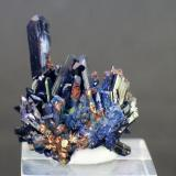 Azurite<br />Touissit, Touissit District, Jerada Province, Oriental Region, Morocco<br />40mm x 30mm x 30mm<br /> (Author: Philippe Durand)