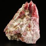 Rhodonite, Cummingtonite<br />Morro da Mina Mine, Conselheiro Lafaiete, Minas Gerais, Brazil<br />59x56x31mm<br /> (Author: Fiebre Verde)
