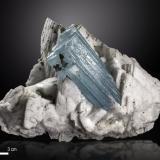 Beryl (variety aquamarine)<br />Rondu, Indus Valley, Baltistan District, Gilgit-Baltistan (Northern Areas), Pakistan<br />130 x 90 mm<br /> (Author: Manuel Mesa)