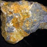 Wulfenite, GalenaMibladen (Distrito minero Mibladen), Midelt, Provincia Midelt, Region Meknès-Tafilalet, Marruecos130 mm x 90 mm x 67 mm (Author: Robert Seitz)