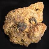 Wulfenite, Calcite, DolomiteMibladen (Distrito minero Mibladen), Midelt, Provincia Midelt, Region Meknès-Tafilalet, Marruecos140 mm x 110 mm x 110 mm (Author: Robert Seitz)