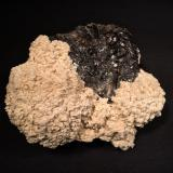 Barite, Sphalerite<br />Elmwood Mine, Carthage, Central Tennessee Ba-F-Pb-Zn District, Smith County, Tennessee, USA<br />115 mm x 90 mm x 73 mm<br /> (Author: Robert Seitz)