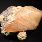 Calcite, Barite, Sphalerite<br />Elmwood Mine, Carthage, Central Tennessee Ba-F-Pb-Zn District, Smith County, Tennessee, USA<br />188 mm x 165 mm x 80 mm<br /> (Author: Robert Seitz)