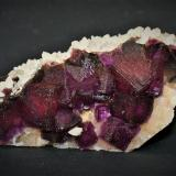 Fluorite and Calcite<br />Jingbian Mine, Hengbu, Zongyang, Anqing Prefecture, Anhui Province, China<br />95mm x 45mm x 45mm<br /> (Author: Philippe Durand)