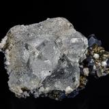 Fluorite, Galena, Pyrite, Calcite<br />Naica, Municipio Saucillo, Chihuahua, Mexico<br />6.0 x 3.9 cm<br /> (Author: am mizunaka)